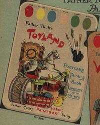 TOYLAND POSTCARD PAINTING BOOK