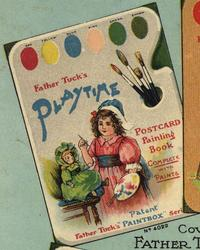 FATHER TUCK'S PLAYTIME POSTCARD PAINTING BOOK