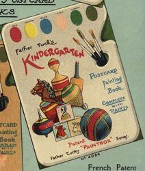 FATHER TUCK'S KINDERGARTEN POSTCARD PAINTING BOOK