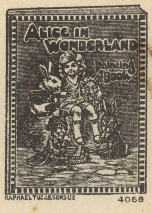 ALICE IN WONDERLAND PAINTING BOOK