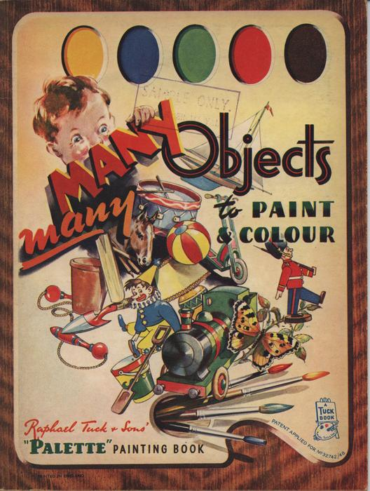 MANY, MANY OBJECTS TO PAINT AND COLOUR