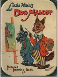 LOUIS WAIN'S DOG MASCOT POSTCARD PAINTING BOOK
