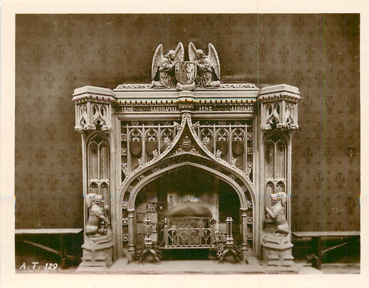 elaborate fireplace decor