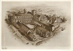 CONJECTURAL REPRODUCTION OF BEAULIEU ABBEY