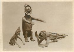WOODEN FIGURES FOR SCARING DEVILS (NICOBARESE)