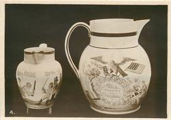 NAPOLEONIC AND AMERICAN JUGS (WILLETT COLLECTION)