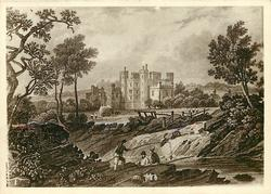 BUCKFAST ABBEY IN 1828. THE PROPERTY OF MRS. BENTHALL