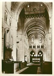 THE ABBEY CHURCH, INTERIOR, SHOWING CHOIR AND SANCTUARY