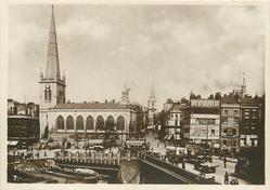 BRISTOL BRIDGE, SHOWING ST. NICHOLAS CHURCH