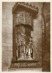 CARVED AND GILDED FIGURE OF ARCHBISHOP BECKET