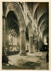 THE NAVE (LOOKING N.E.), EXETER CATHEDRAL