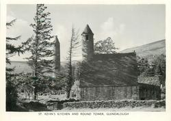 ST. KEVIN'S KITCHEN  AND ROUND TOWER, GLENDALOUGH