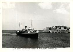 S.S. ST. JULIEN AND CASTLE CORNET, ST. PETER PORT, GUERSEY, C.I.