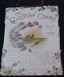 THE CHRISTIAN GRACES CALENDAR FOR 1895