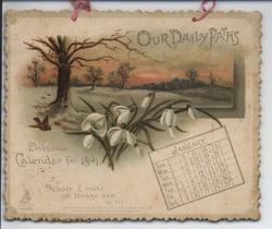 OUR DAILY PATHS DEVOTIONAL CALENDAR FOR 1891