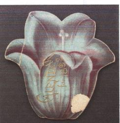 BONNY BLUE BELL CALENDAR FOR 1892, purple blue bell flower,title on title page