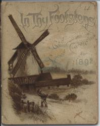 IN THY FOOTSTEPS GOD SPEED CALENDAR FOR 1892
