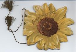 THE SUNFLOWER CALENDAR FOR 1892, yellow sunflower, title on title page