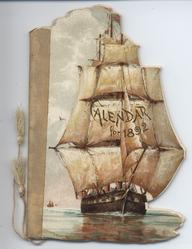 SILVERY SAILS CALENDAR FOR 1892