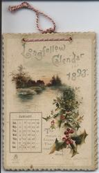 LONGFELLOW CALENDAR FOR 1893
