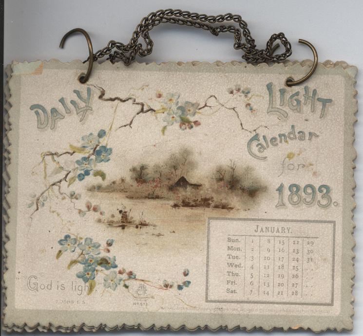 DAILY LIGHT CALENDAR FOR 1893