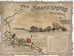 THE SHAKESPEARE CALENDAR FOR 1893