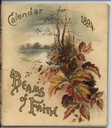 BEAMS OF FAITH CALENDAR FOR 1894 (titled SUNBEAMS on inner title page)