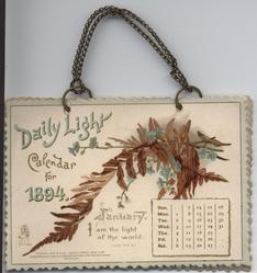 DAILY LIGHT CALENDAR FOR 1894