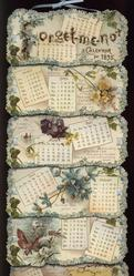 FORGET-ME-NOT CALENDAR FOR 1895