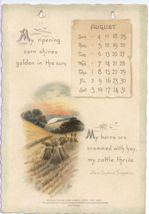 THE LONGFELLOW CALENDAR FOR 1895 - TuckDB Ephemera