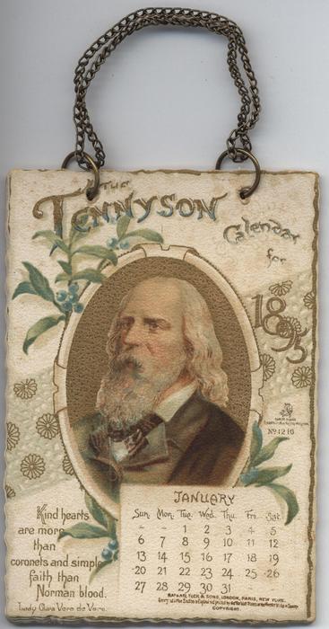 THE TENNYSON CALENDAR FOR 1895