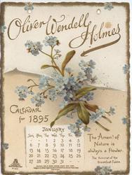 OLIVER WENDELL HOLMES CALENDAR FOR 1895