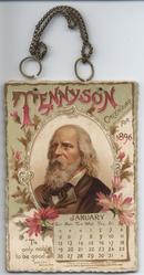 TENNYSON CALENDAR FOR 1896