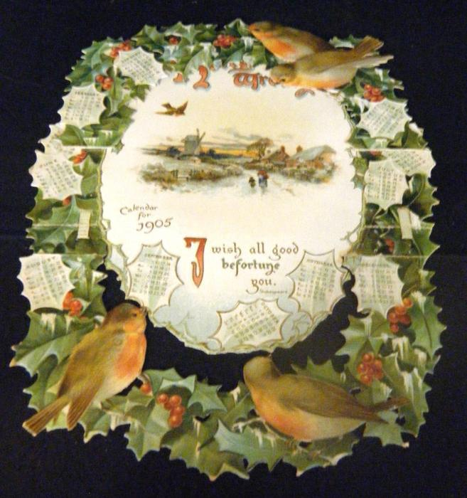 THE HOLLY WREATH CALENDAR FOR 1905