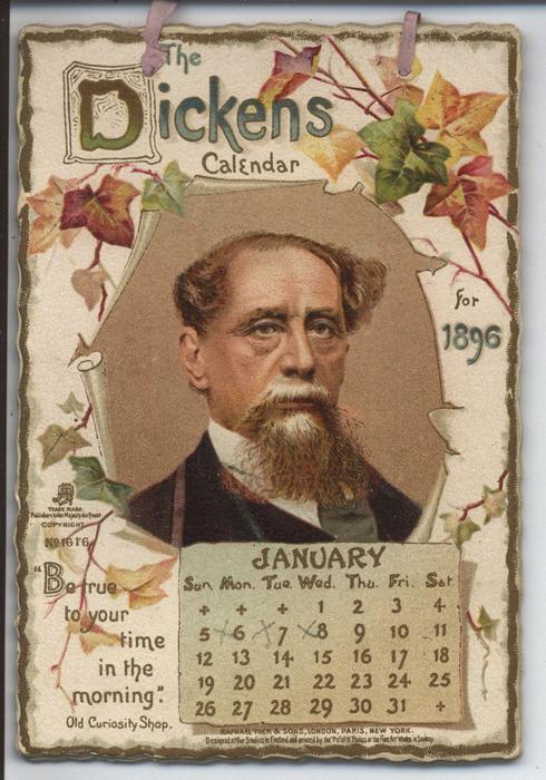 THE DICKENS CALENDAR FOR 1896