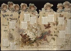 WHEN ALL IS YOUNG CALENDAR FOR 1896