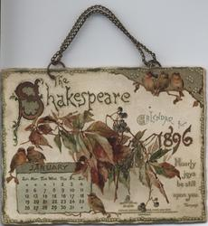 THE SHAKESPEARE CALENDAR FOR 1896