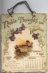 NOBLE THOUGHTS FROM WHITTIER CALENDAR FOR 1896