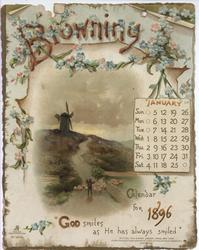 BROWNING CALENDAR FOR 1896