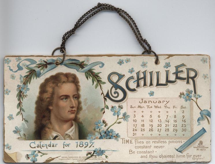 SCHILLER CALENDAR FOR 1897