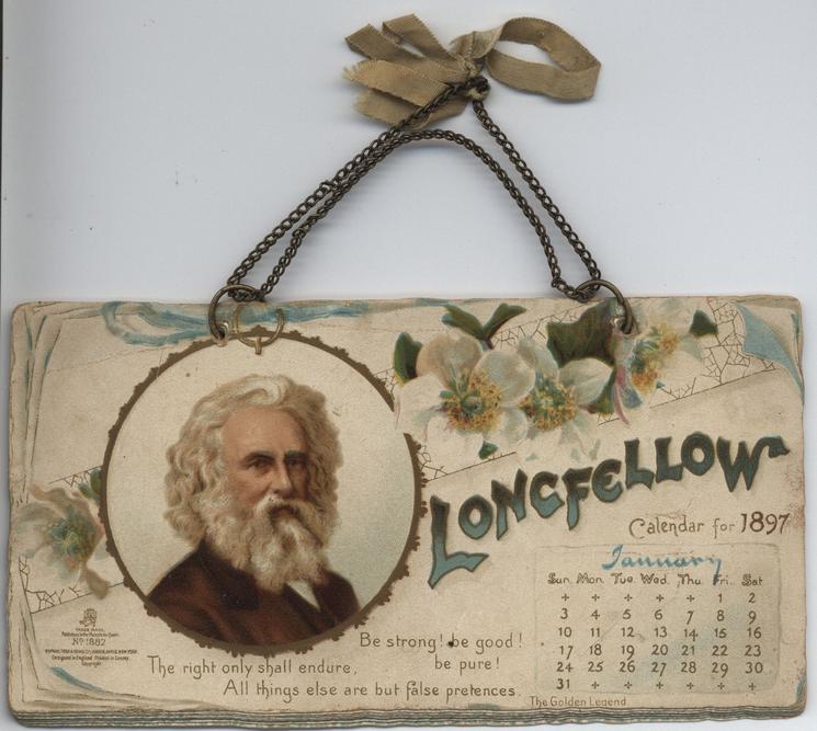 LONGFELLOW CALENDAR FOR 1897