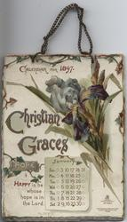 CHRISTIAN GRACES CALENDAR FOR 1897