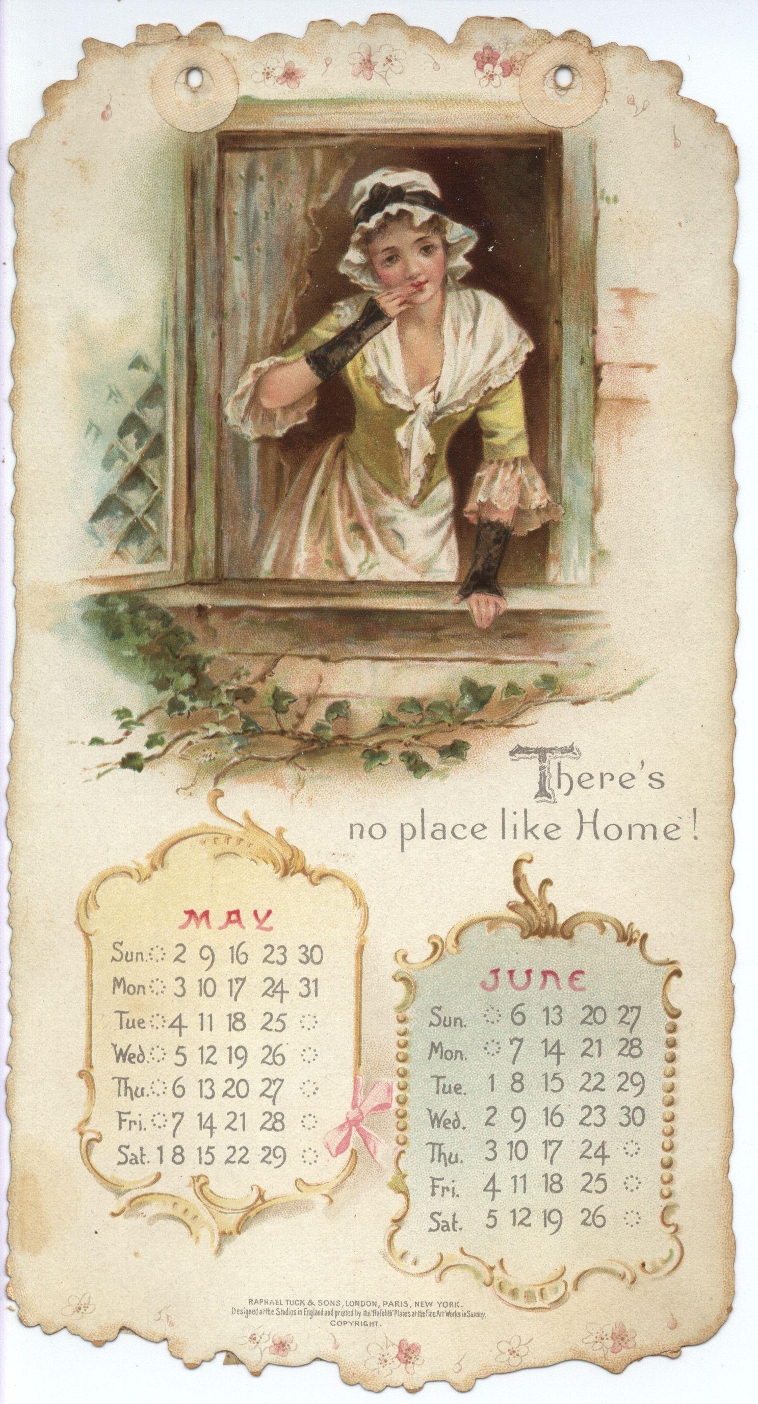 home sweet home calendar for 1897