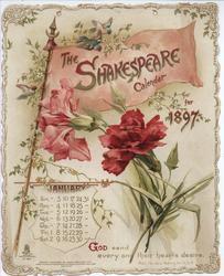 THE SHAKESPEARE CALENDAR FOR 1897