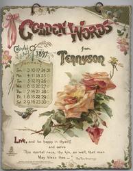 GOLDEN WORDS FROM TENNYSON CALENDAR FOR 1897