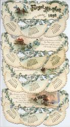 FORGET-ME-NOT CALENDAR FOR 1898