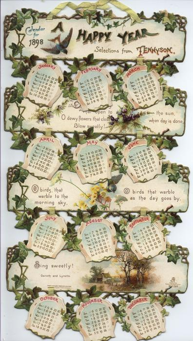A HAPPY YEAR CALENDAR FOR 1898