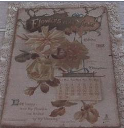 FLOWERS OF THE YEAR CALENDAR FOR 1898