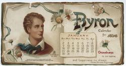 BYRON CALENDAR FOR 1898