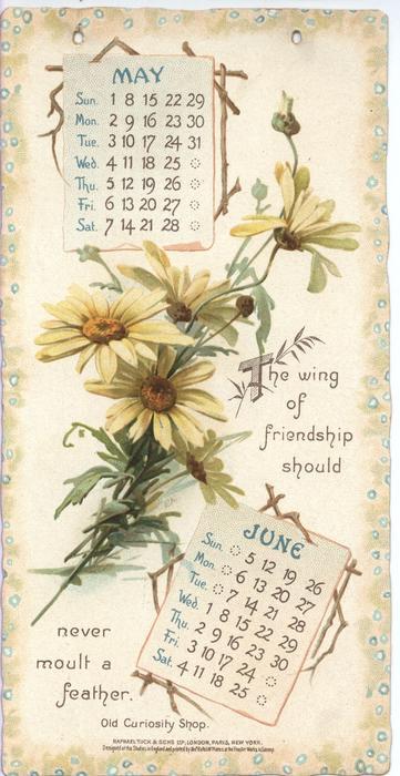 Dickens Calendar For Tuckdb Ephemera